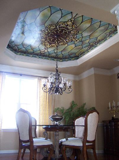 Stained Glass Ceiling Mural Stained Glass Stained Glass Paint Glass Ceiling