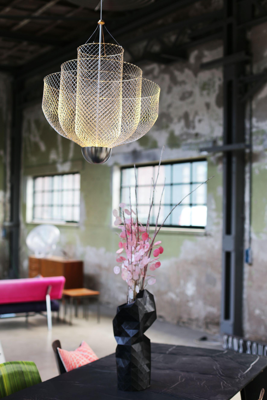Lamp Meshmatics Chandelier, gemaakt van kippengaas, van Rick ...