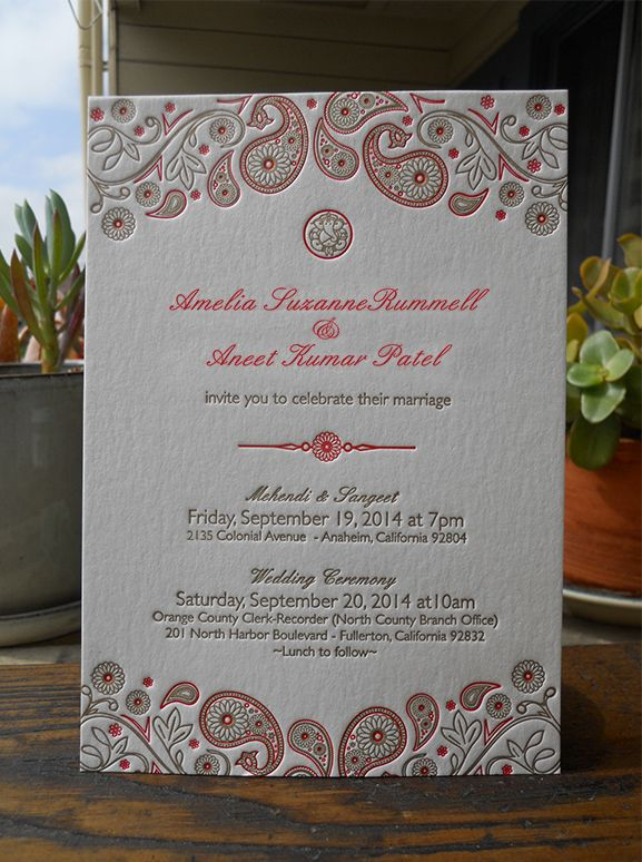 Wedding invite - Reb Peters Press