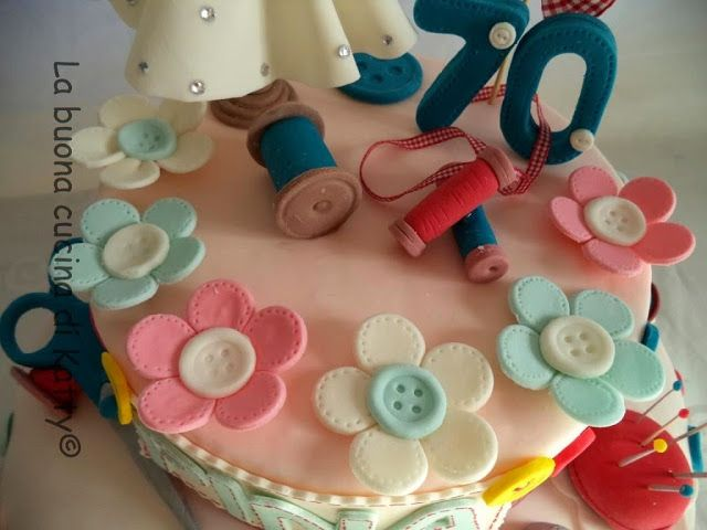 La buona cucina di Katty: Torta per una sarta speciale . cake for a special seamstress