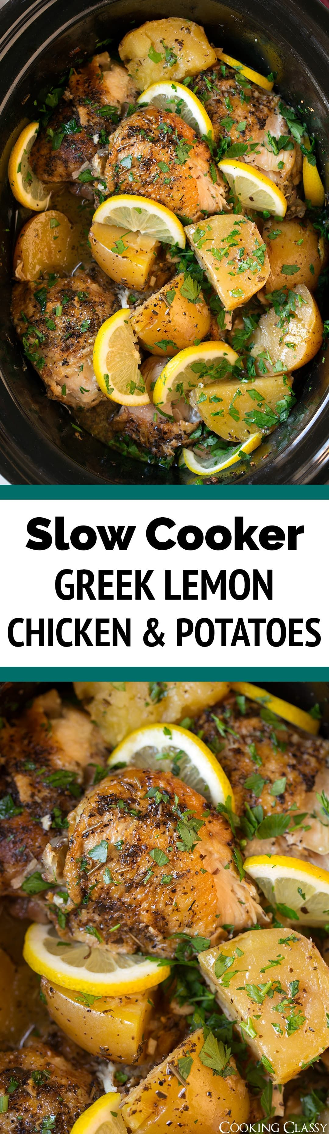 Slow Cooker Greek Lemon Chicken And Potatoes Such A