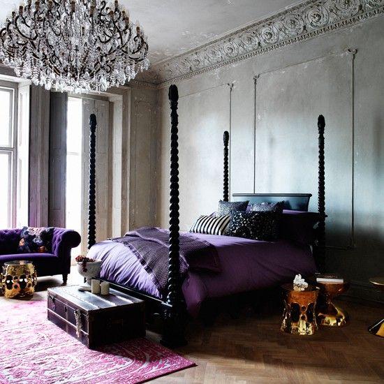 Dramatic Georgianstyle Bedroom Modern Cottage Pub Pinterest - Georgian style bedroom furniture