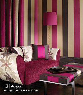 الوان غرف جميله 2013 صبغات غرف 2013 ألوان الدهانات Striped Walls Decor Decorating Your Home