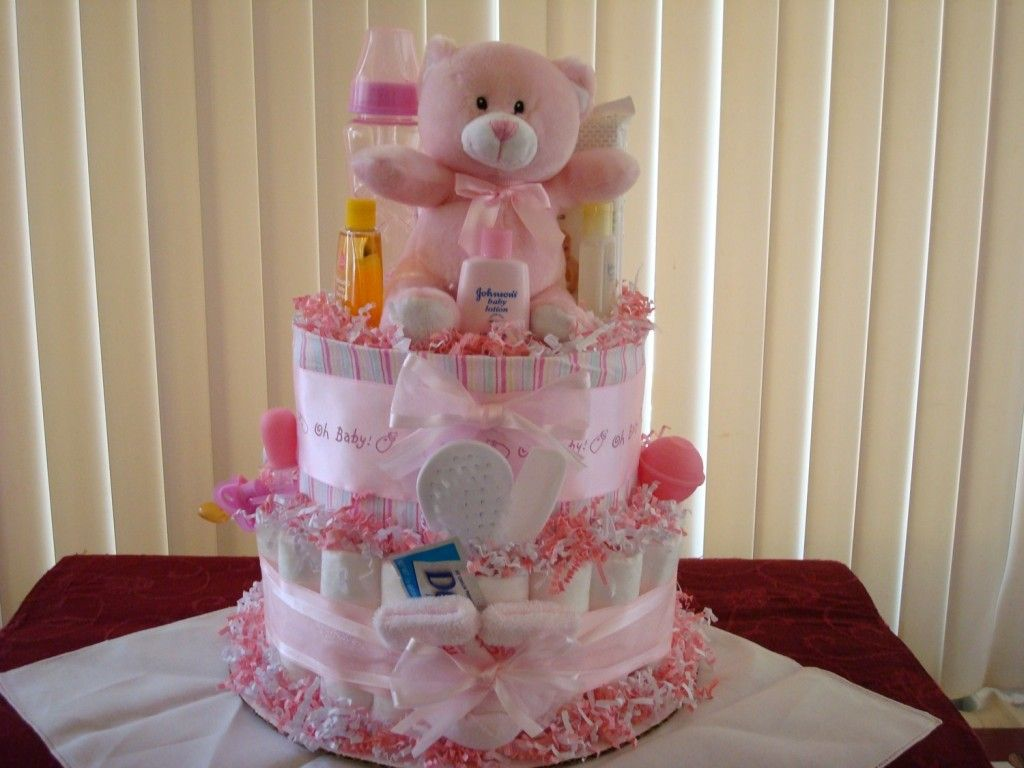 baby shower diaper cake ideas girl : easy creative baby shower