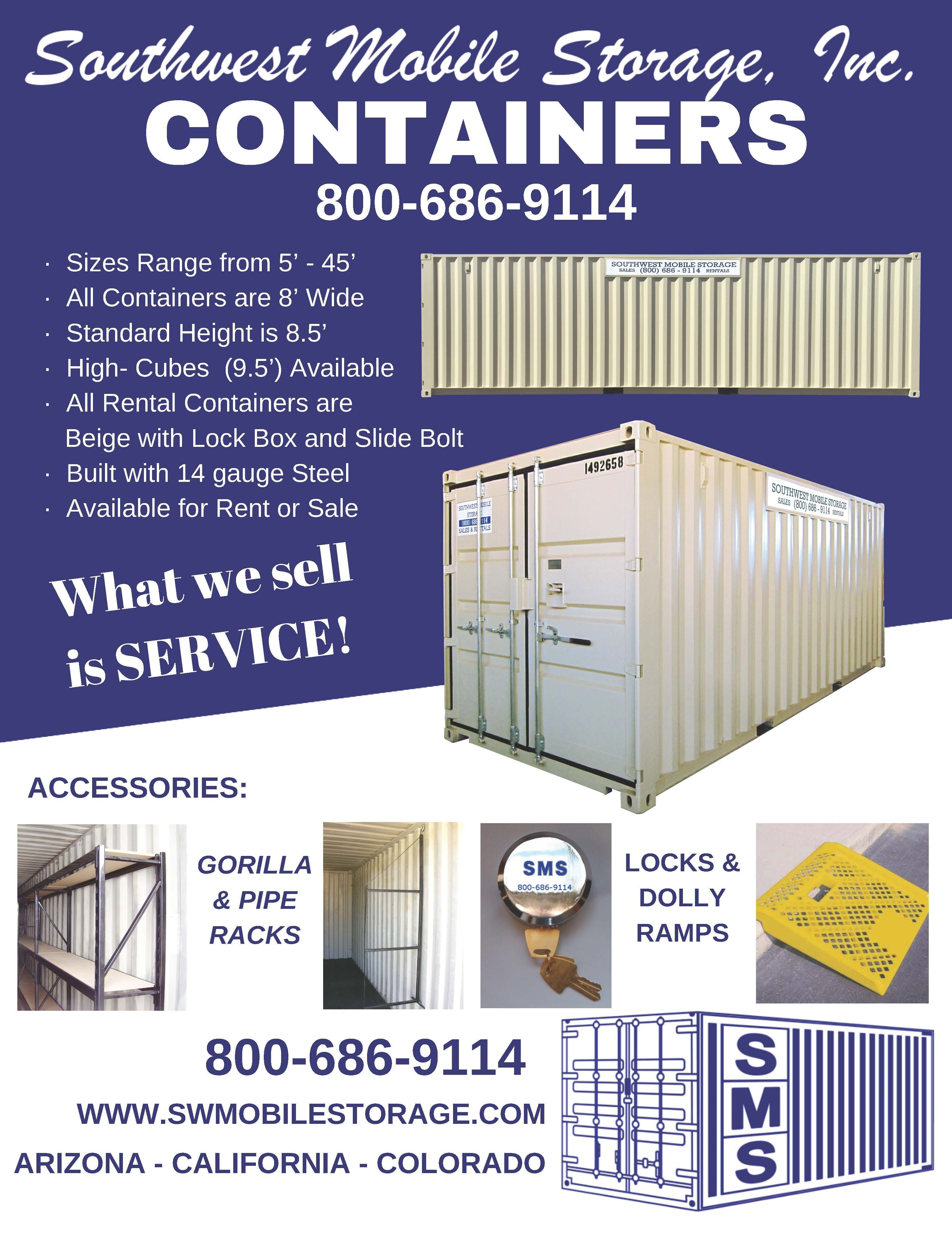 Southwest Mobile Storage Containers Mobile Storage Storage Rental Storage