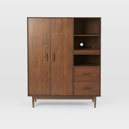 Mid Century Armoire Dark Walnut Westelm Furniture Home Decor