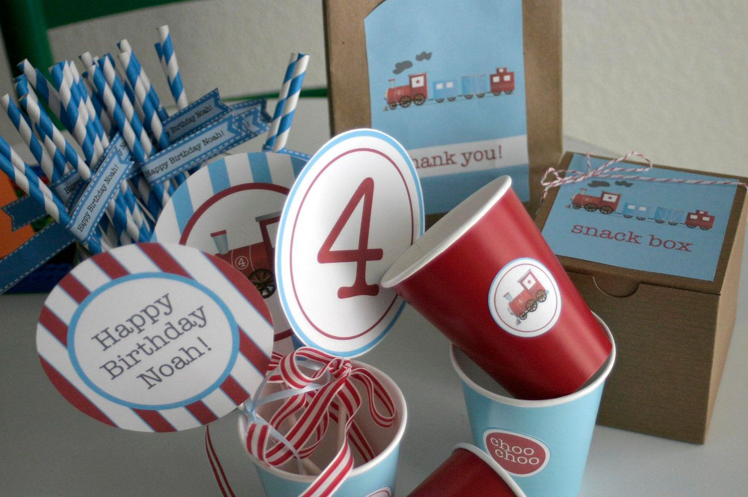 Train Party Decorations - make your own bundle