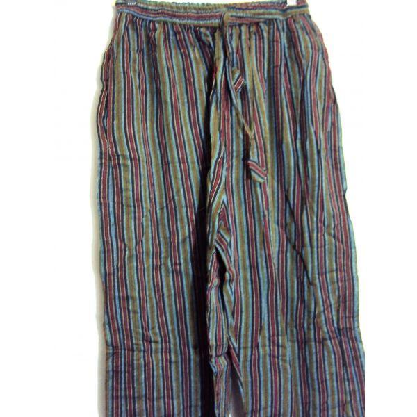 Pantalon Hippie Fino A Rayas De Algodon 100 Natural Hechos En Nepal Pantalon Hippie A Rayas Largo Para Hom Pantalones Hippies Ropa Hippie Hombre Ropa Hippie