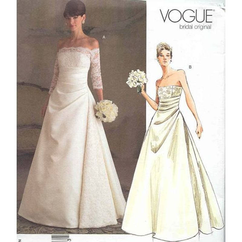 vogue 2842 brautkleid gr 32 48 diy dress paper jewelry and vintage patterns. Black Bedroom Furniture Sets. Home Design Ideas
