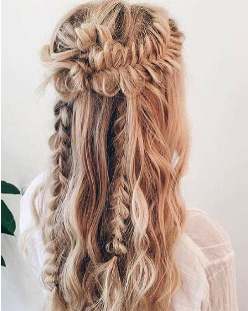 Festival Inspired Plaited Hairstyle Image Instagram