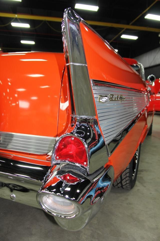1957 Chevy Chevy Bel Air Chevy Orange Car