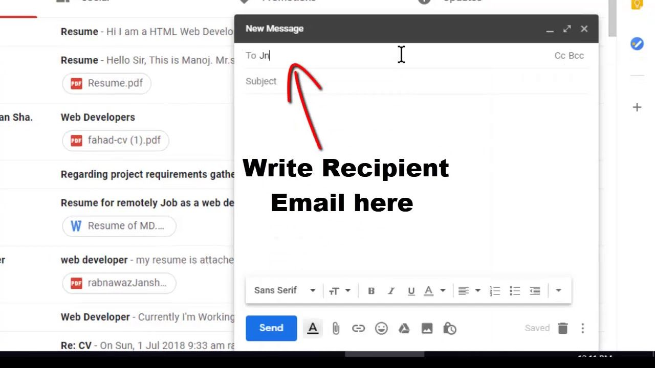 How to send email using gmail account to multiple people