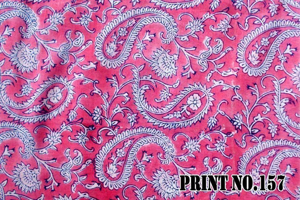7ee1fc3c160 5 Yard Indian Floral Print Beautiful Hand Block Jaipuri 100% Cotton ...