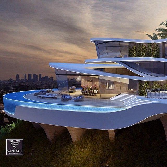 Hollywood Hills Residence Arsitektur Arsitektur Modern Rumah