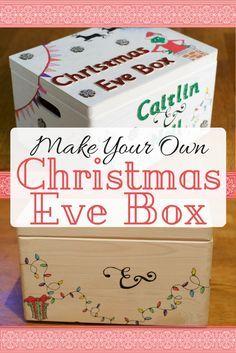 BIRTHDAY GIFT KEEPSAKE BOX LARGE WHITE PERSONALISED CHRISTMAS EVE
