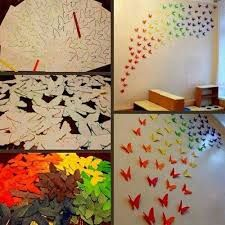 Resultado De Imagen Para Diy Decora Tu Pared Butterfly Wall Art Diy Butterfly Wall Decor Butterfly Wall Art