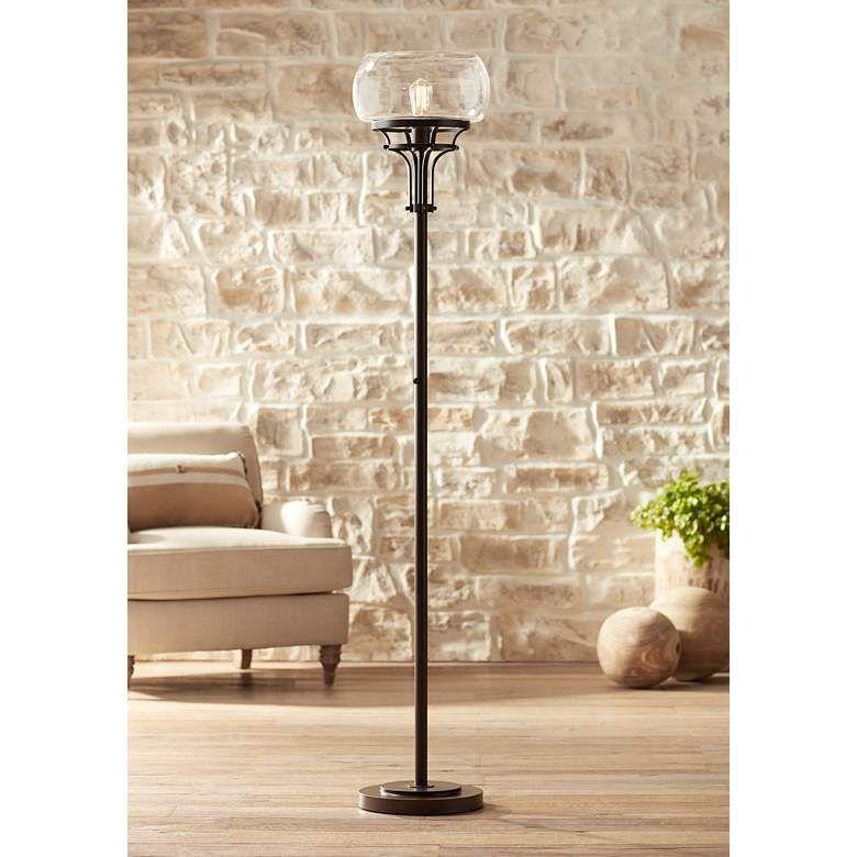 Franklin Iron Works Luz Torchiere Floor Lamp 46j69 Lamps Plus