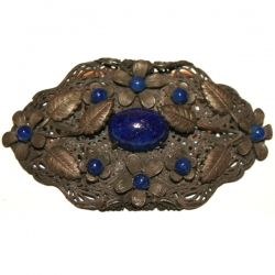 Garland Collects vintage Czech Glass Floral Brooch
