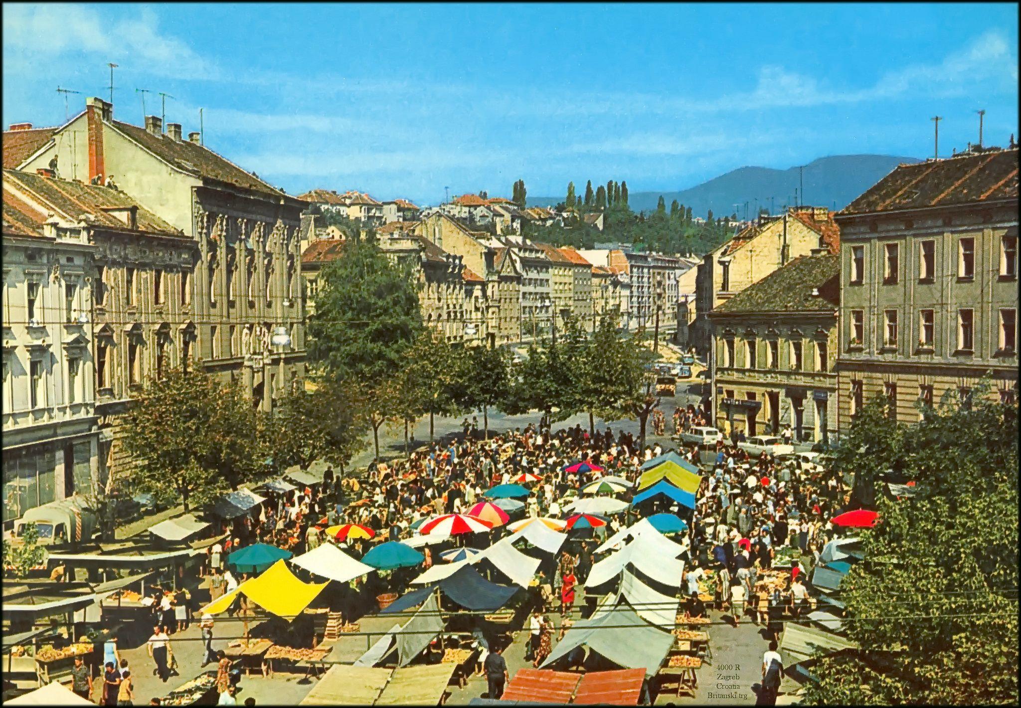 Suncani Dan Na Britancu 1971 Godine Zagrebfacts Zagreb Zg Agram Britanac Britanskitrg Retrozagreb Retro Zagreb Croatia Vojvodina