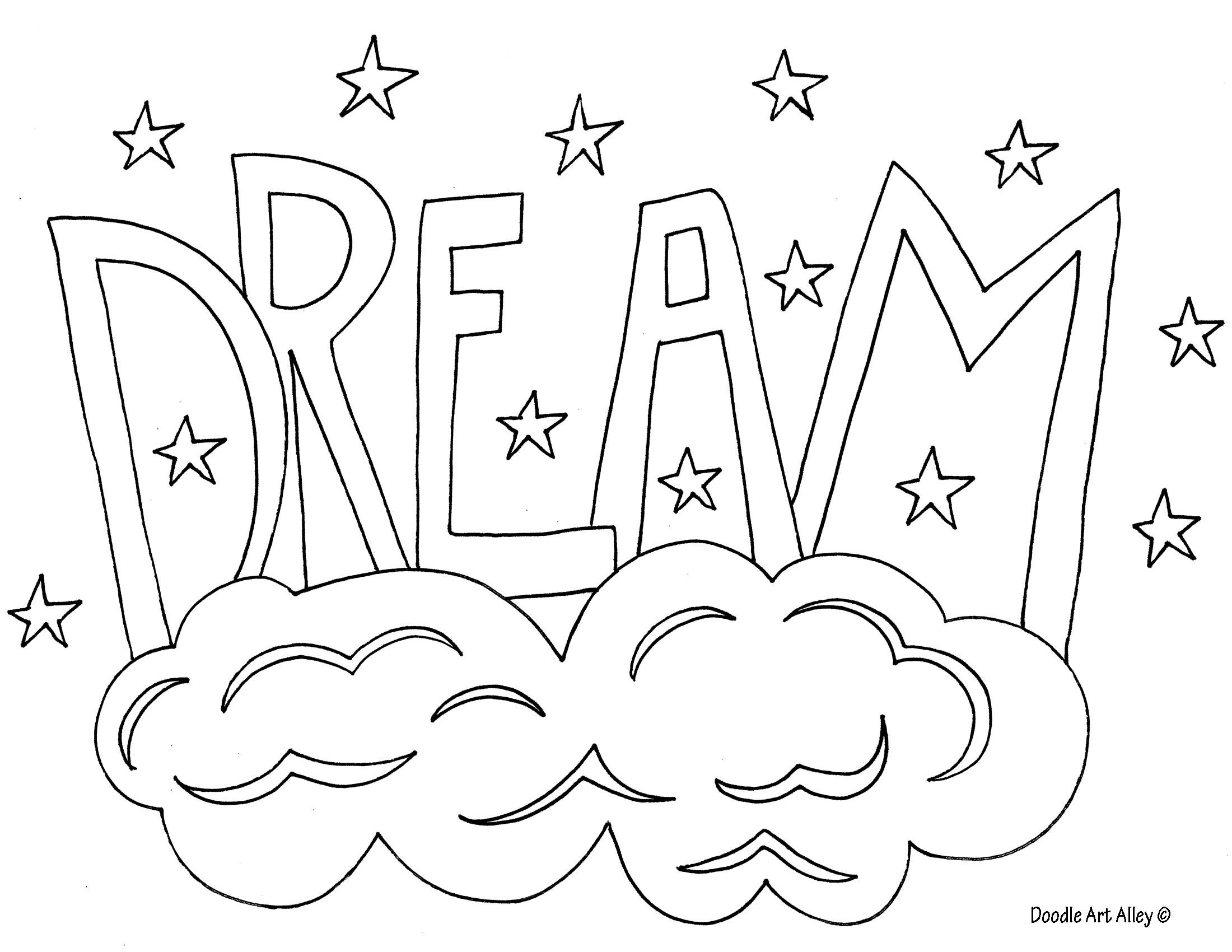 Dream Coloring Page Coloring