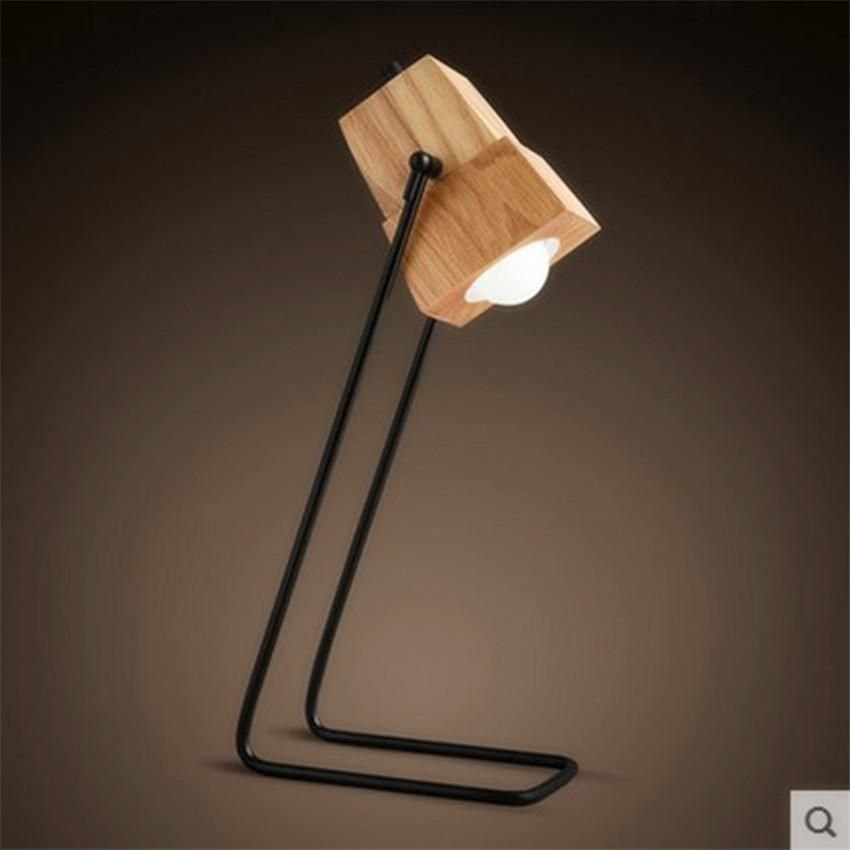 New Simple Table Lamp Industrial Desk Lamp With iron and