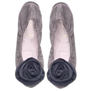 Grace · Grey suede floppy flower