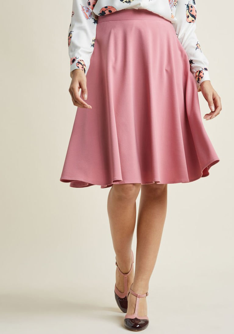 e77b97ed9bc Just This Sway A-Line Skirt in Carnation in 4X - Full Skirt Mid by ModCloth