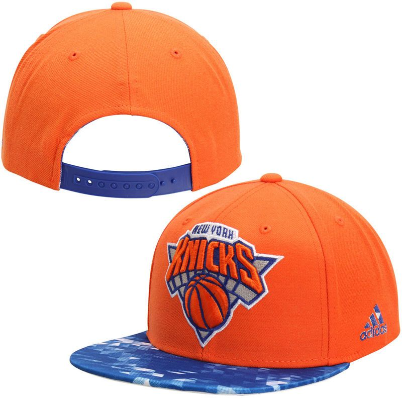 0c7cbf6ebe5f2 New York Knicks adidas 2 Tone City Pulse Snapback Adjustable Hat – Orange Royal  Blue