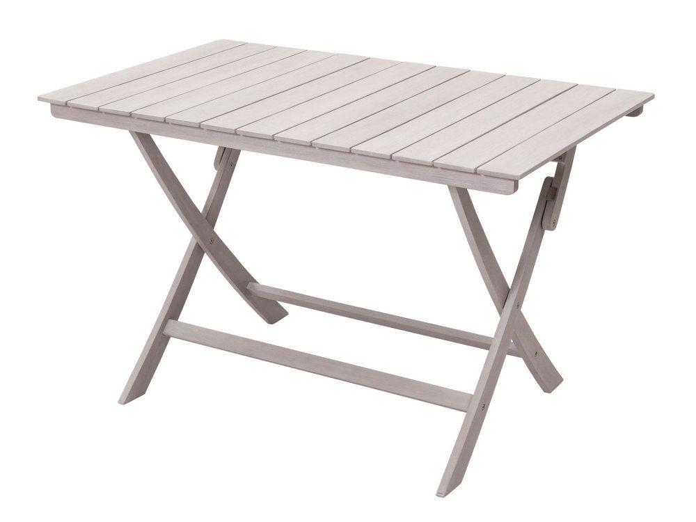 Table de jardin pliante en acacia gris FSC SILVERWOOD 120x75cm | Acacia