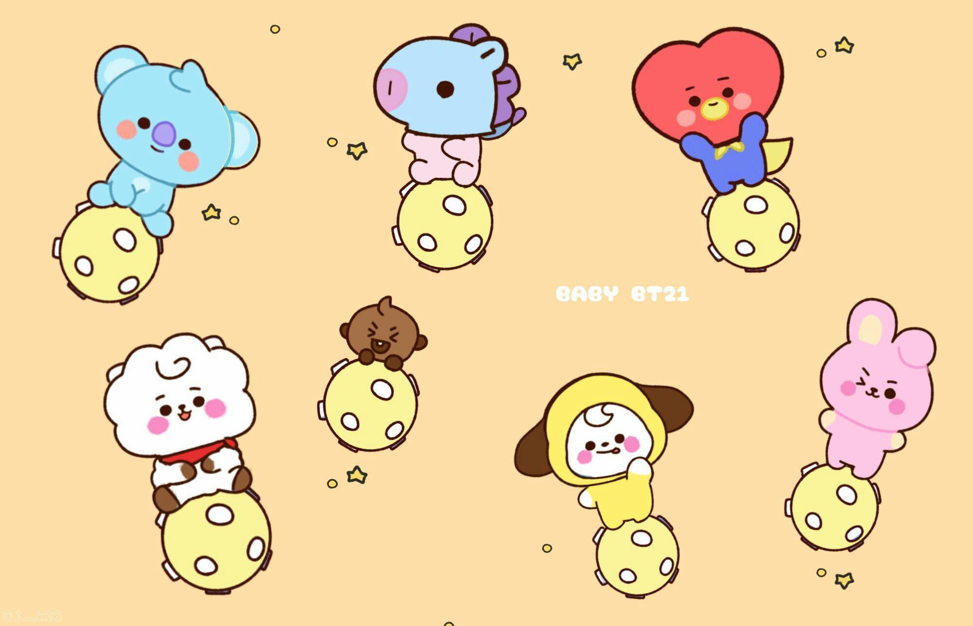 Baby Bt21 Bts Drawings Bts Wallpaper Bts Fanart
