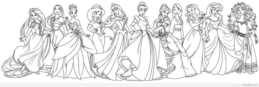 Coloring Rocks Disney Princess Coloring Pages Princess Coloring Pages Disney Princess Colors