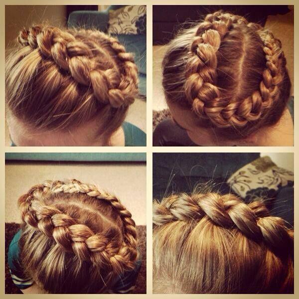 Peinado con trezas para niñas
