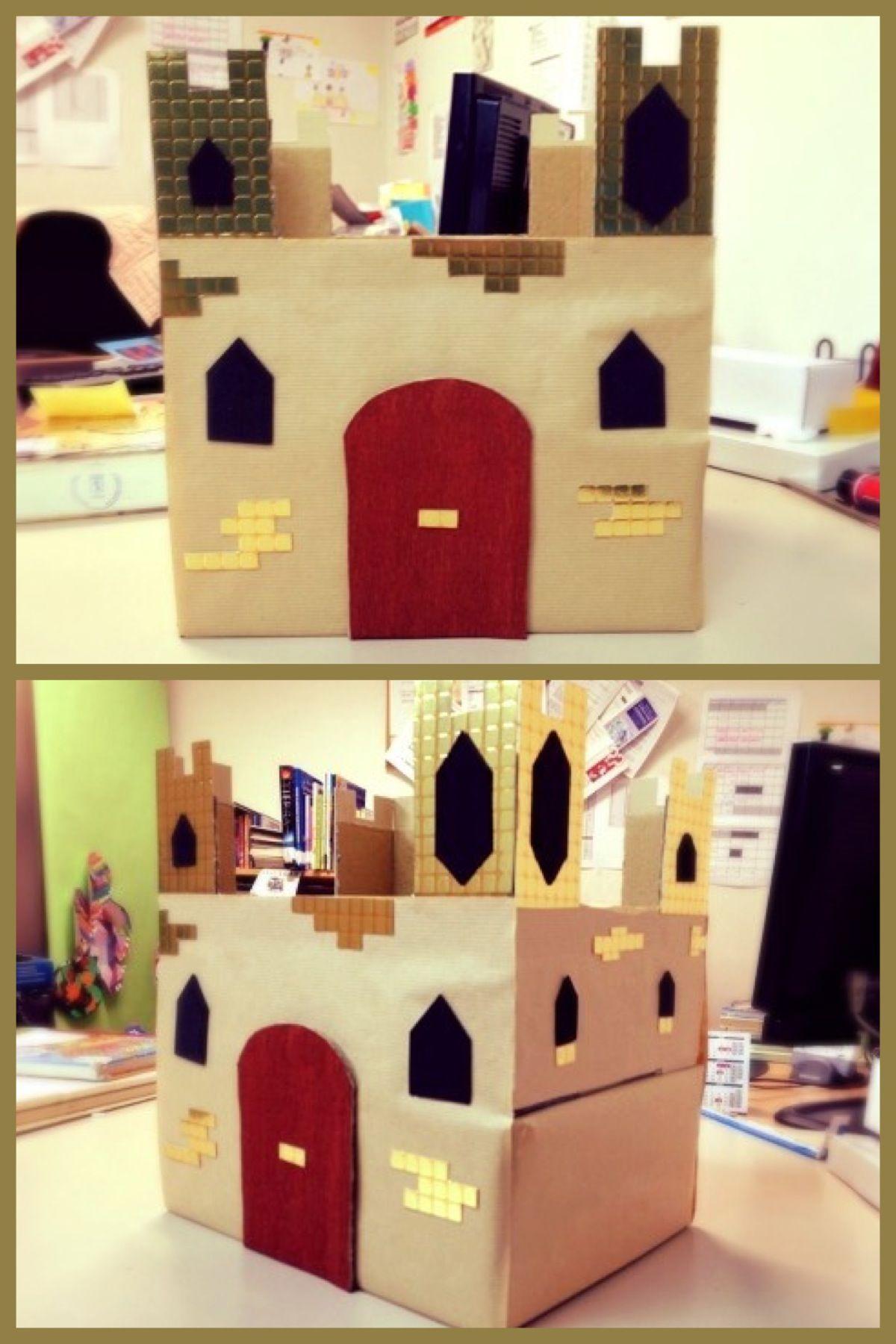 Castillo de cartón y papel.