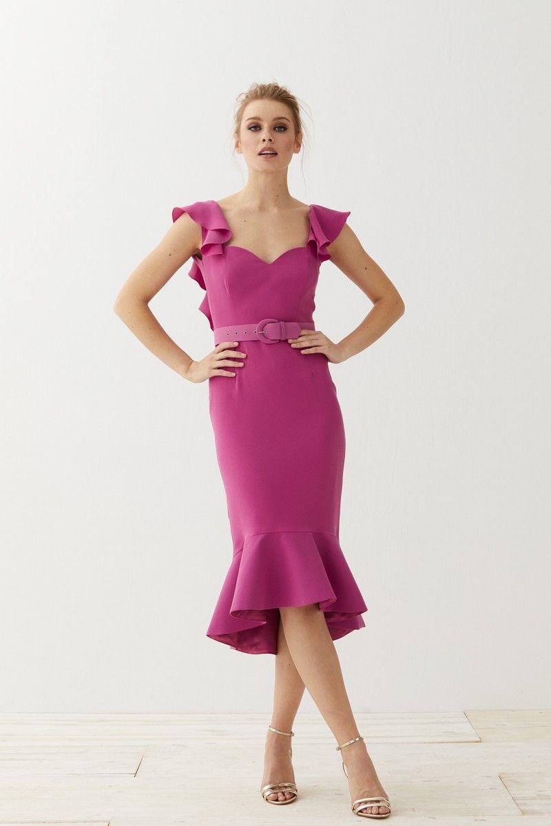 Vestido Corto Escote Corazón Rosa Sirena | Vestidos de fiesta, Mono ...