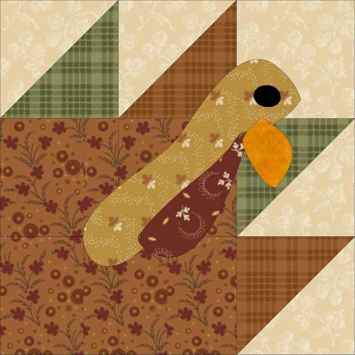 Turkey Trot FREE quilt block pattern at www.countryjunktion.com ... : turkey quilt block - Adamdwight.com
