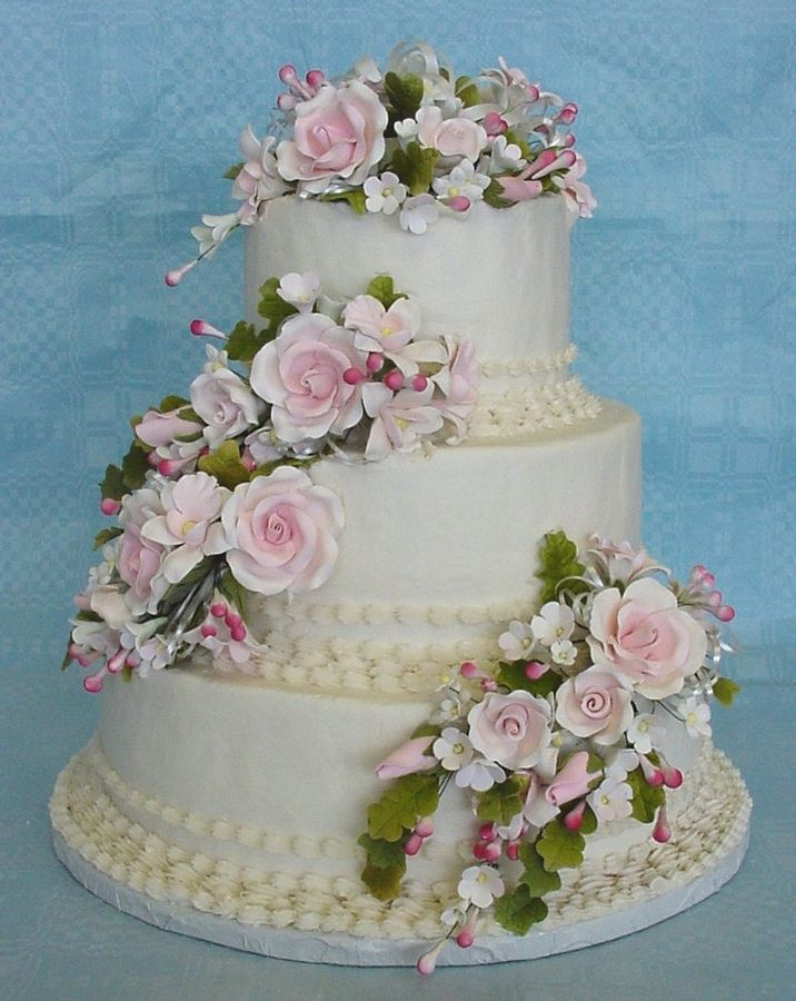 Wedding Cakes With Gumpaste Flowers