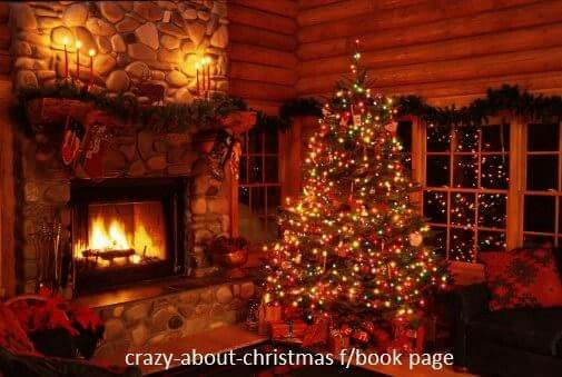 Beautiful Christmas Tree And Fireplace Crazy About Christmas Fb Page Christmas Decorations Living Room Log Cabin Christmas Cabin Christmas