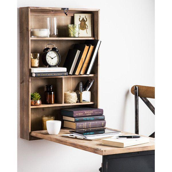 home essentials furniture. Home Essentials The Rustic Wooden Fold-Away Desk (\u20ac96) ❤ Liked Furniture