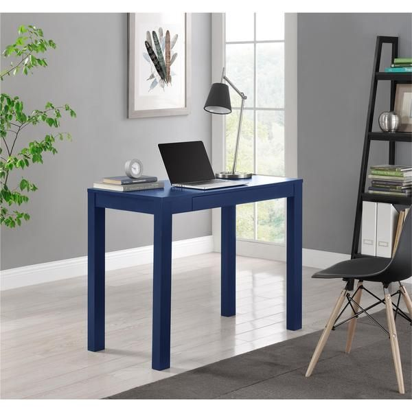 altra parsons navy desk with drawer around the house rh pinterest com altra parsons desk with drawer black oak altra parsons desk white