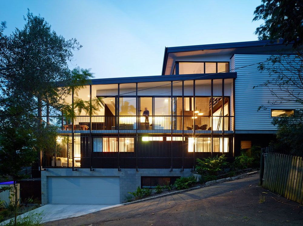 Creative Design Solutions Implemented In Modern House On A Slope Building Development Residential Architecture Architecture Contemporary house on slope