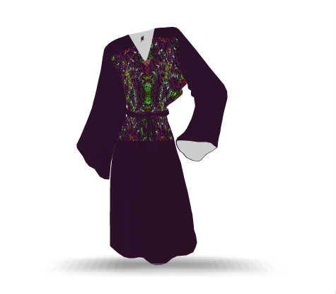 Boho Girl Longsleeve Tunic Dress. Feel Good Fashion & Living®  by Marijke Verkerk Design www.marijkeverkerkdesign.nl