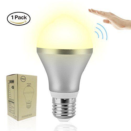 Motion Sensor Light Bulb Eziview 9w E26 Led Bulb Smart Pir Motion Detector Warm Bulbs Auto On Off Night Lights Indoo Motion Sensor Lights Led Bulb Light Bulb