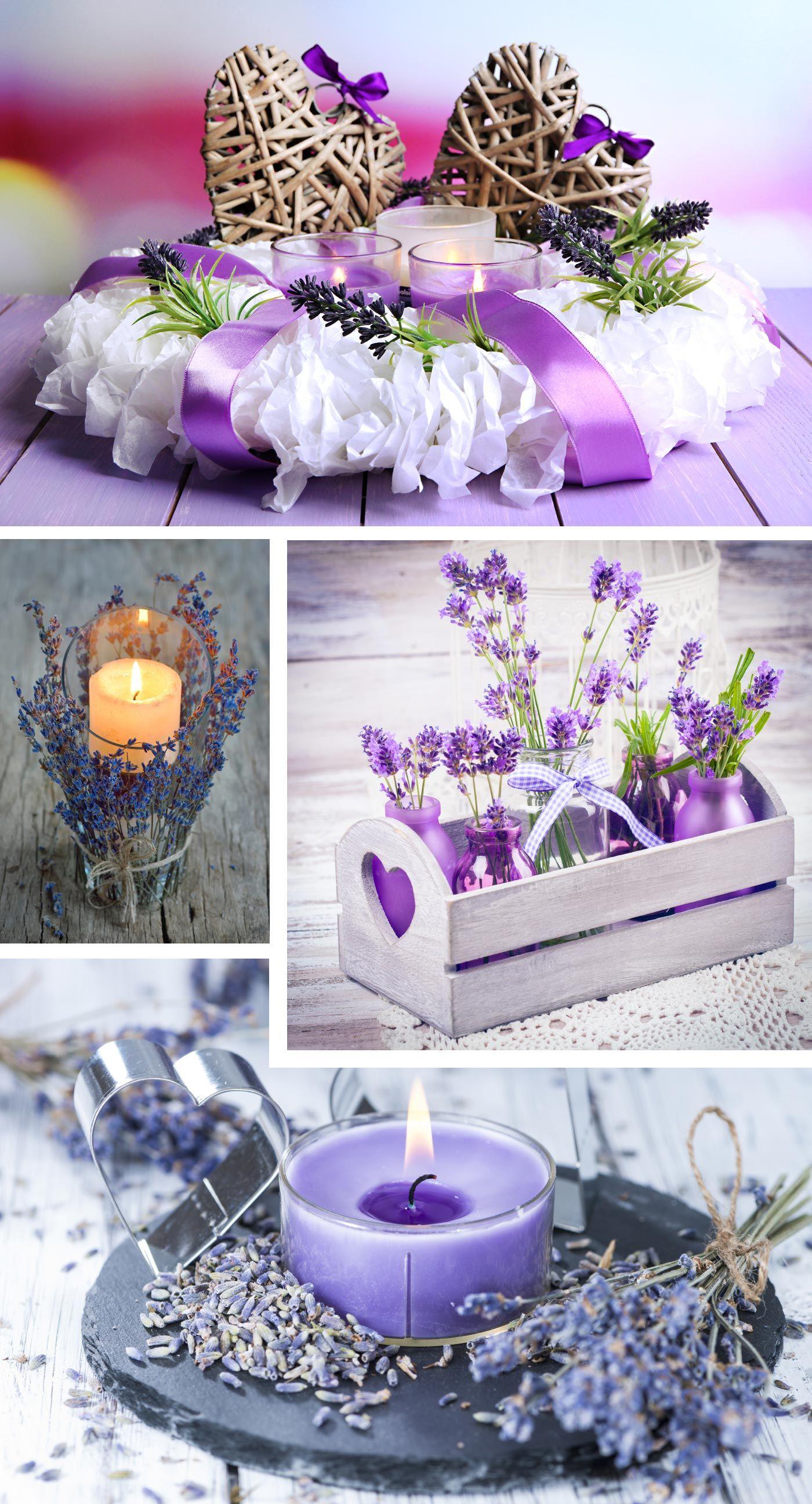 Hochzeitsdeko Lavendel  Tischdekoration zur Hochzeit