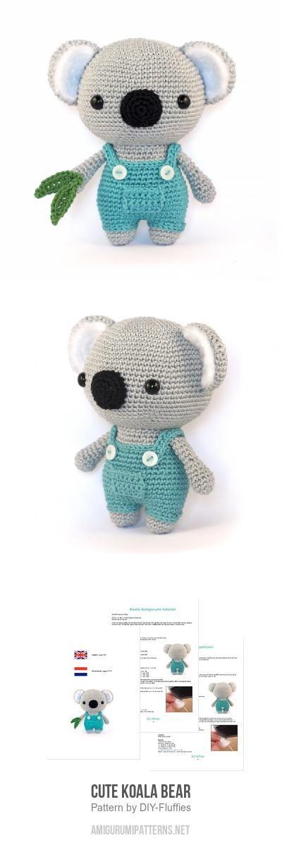 Cute Koala Bear Amigurumi Pattern #crochetdolls