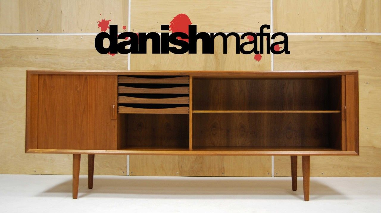 Danish Teak Credenza : Mid century modern credenza danish designer
