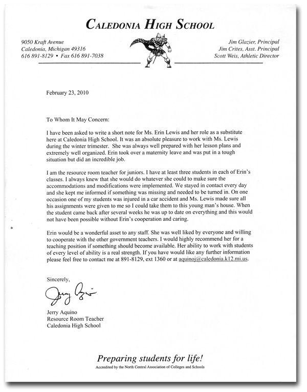 lawteched letter recommendation for teacher template cover letters - recommendation letter for student