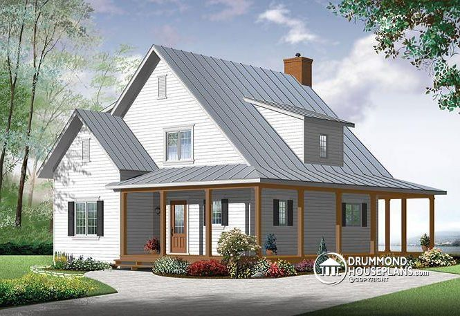 W3518 v1 beautiful and small new modern scandinavian home plan 3 to 4 bedrooms open floor plan affordable fireplace