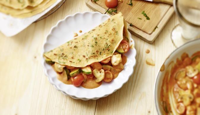 Mediterran Gefüllte Pfannkuchen Rezept Rezepte Pfannkuchen