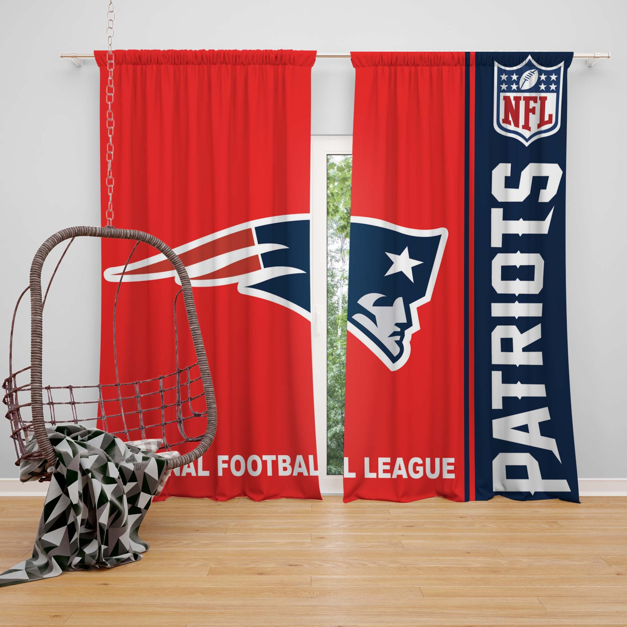 Nfl New England Patriots Bedroom Curtain Patriotic Bedroom Nfl