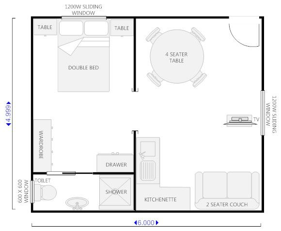 Pin by owner built design llc on oahu design drafting for Kitchen design 6m x 3m